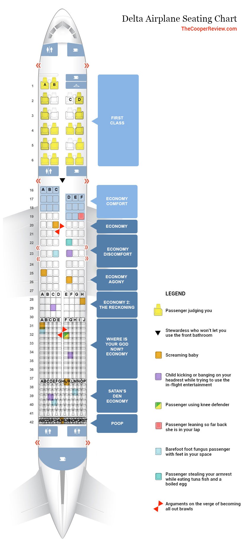 Delta unveils revolutionary new seating chart - Mile Writer